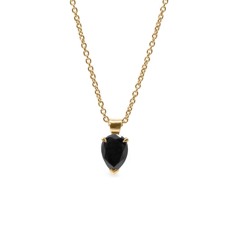 Maisy Gold Necklace Black Diamond