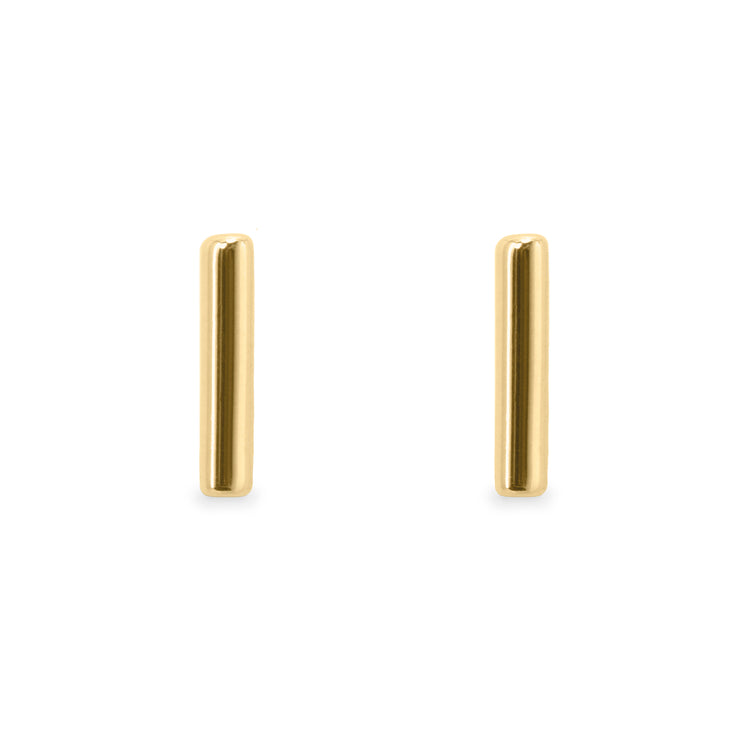 gold earrings no stones