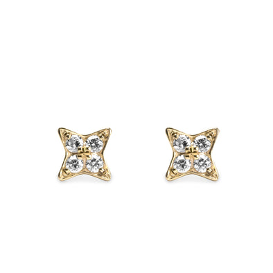 Venus Gold Earrings diamonds
