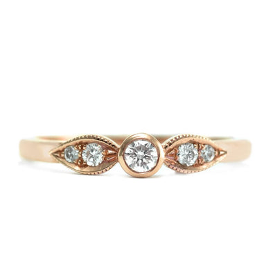 Heleni Gold Ring White Diamonds