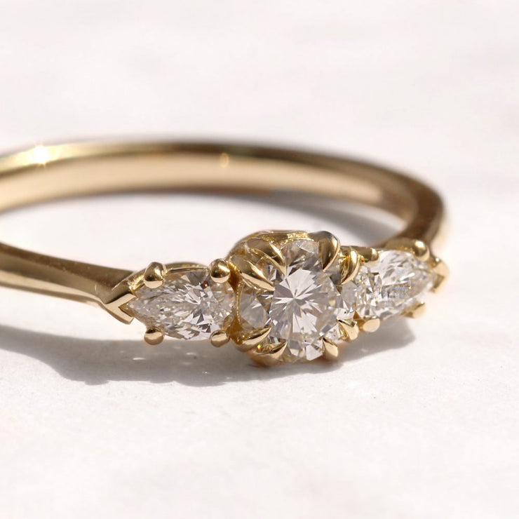 emma gold ring with white diamonds