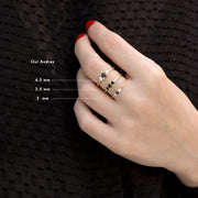Audrey Gold Ring 4.5mm Black Diamond