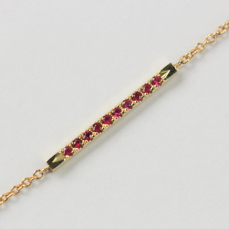 Andrea  Gold Bracelet Set With rubies