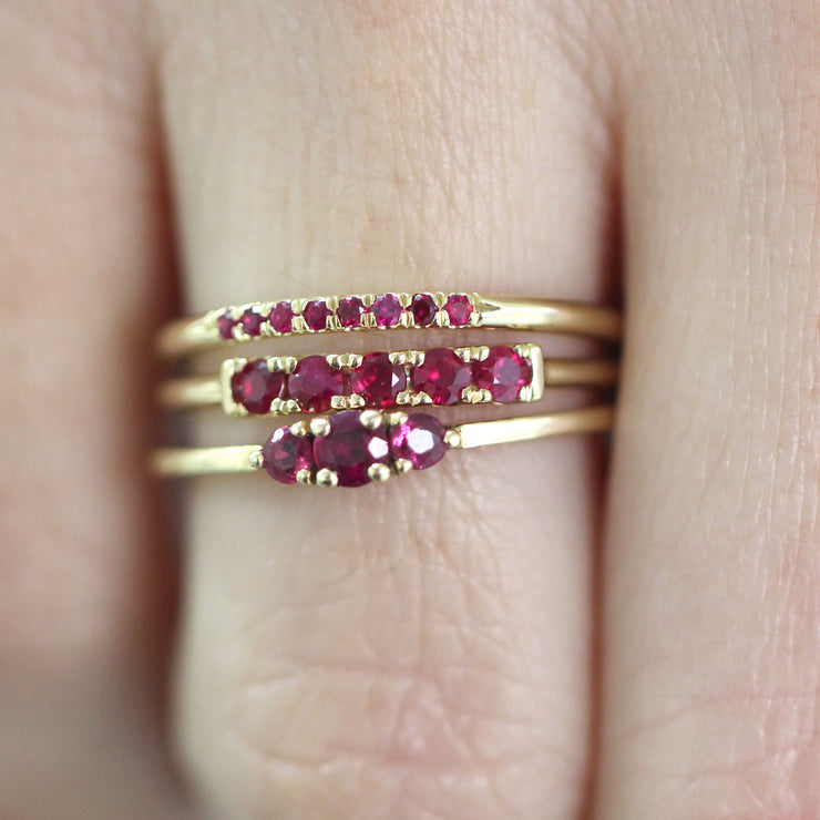 ruby gold ring for stacking