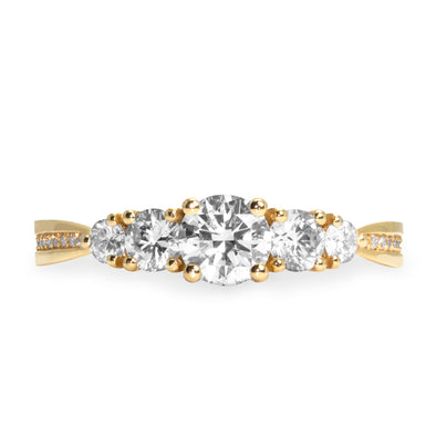 Suzana Gold Ring White Diamonds
