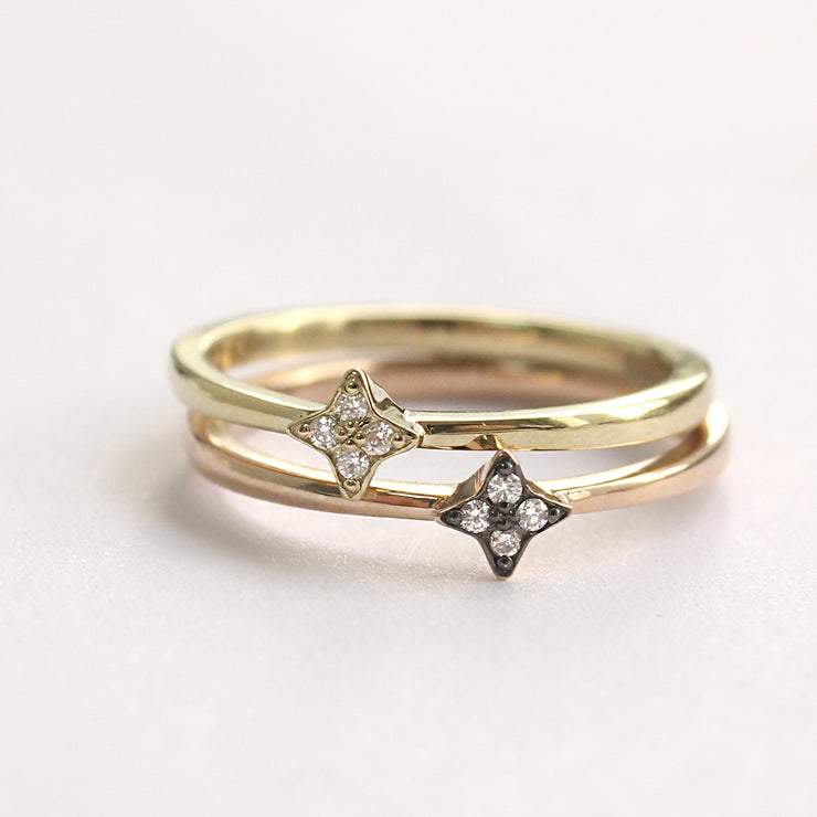 Mini Bey Ring - A star shaped ring with four diamonds
