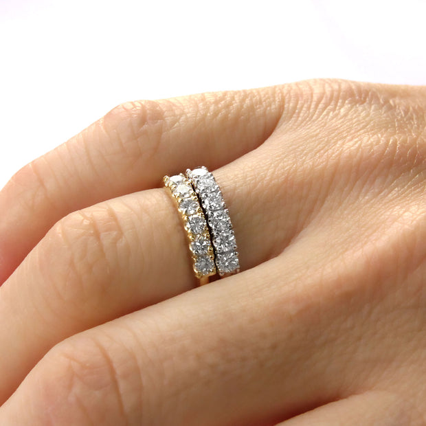 yellow gold ring white diamonds candy