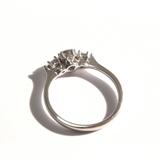 white gold Emma ring with gray diamond