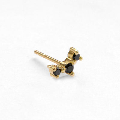Frida black diamond earring