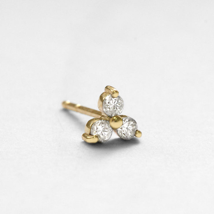 Grace Earring (Single) White Diamonds