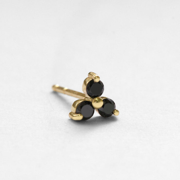 grace earring black diamonds
