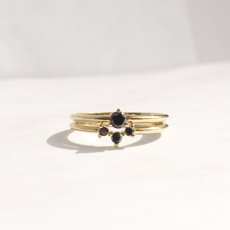 womens stackable ring frida
