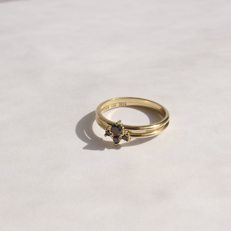 stackable diamond ring frida