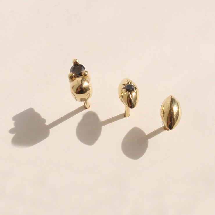Black diamond earring agatha