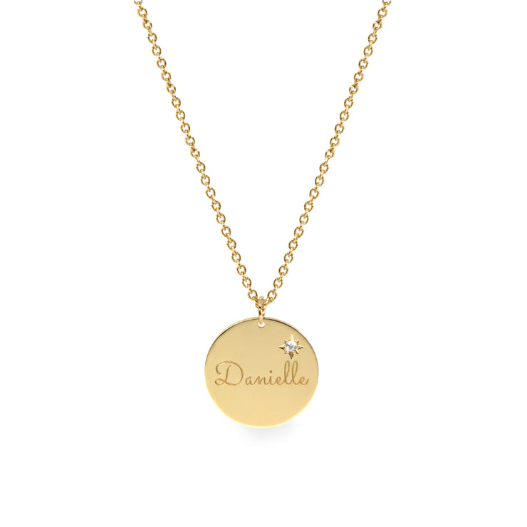 personalised necklace with diamond