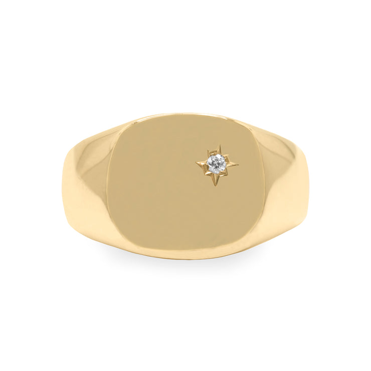 Maria Gold Ring White Diamond