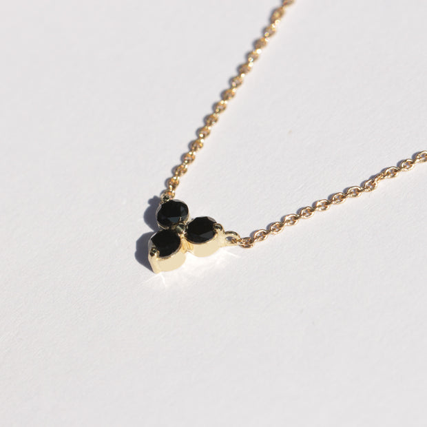gold necklace black diamonds