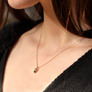 Gold Black Diamond Necklace on a model