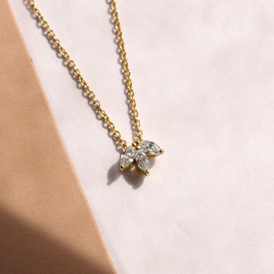 marquise diamonds necklace