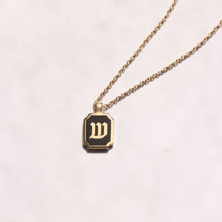 Enamel Letter Necklace