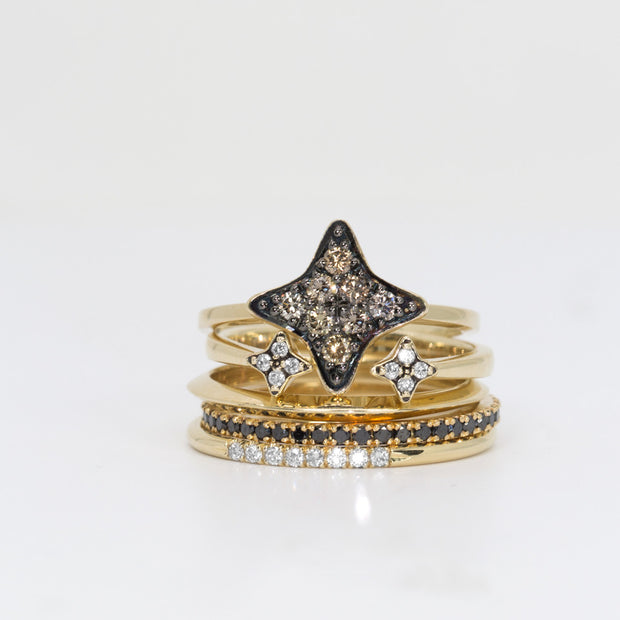 diamond star shaped ring - HOTCROWN