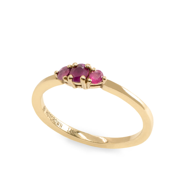 Audrey Gold Ring 3mm Ruby