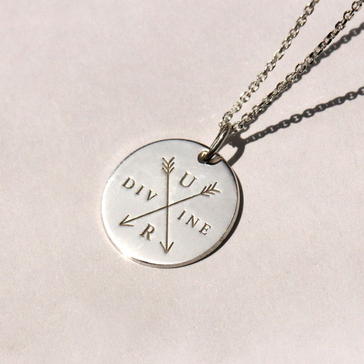 you're divine silver necklace