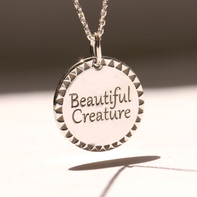 beautiful creature silver necklace
