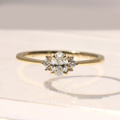 Ella Ring White Diamonds