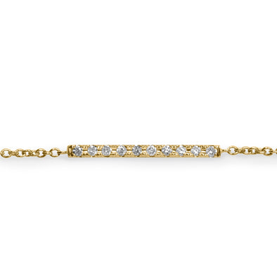 Everyday Gold Bracelet Set With Diamonds