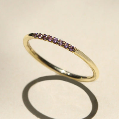 Kelly ring with Amethyst