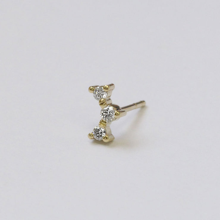 Frida white Diamond Earring (Single)