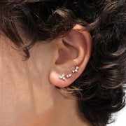 Marie Piercing Earring With White Diamond (Single)