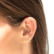 hebrew aleph bet earrings