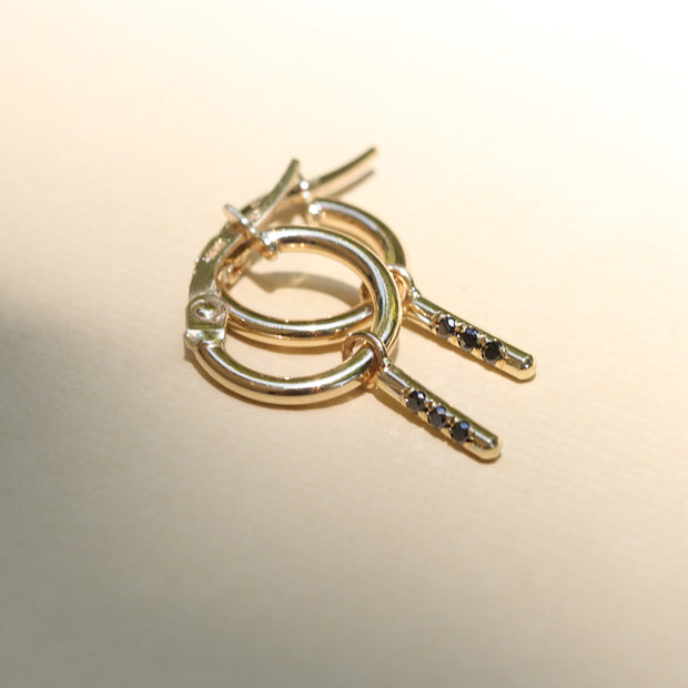 Hoop + Valerie gold earrings (Single)