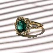 Katerina Ring With Lab-Grown Emerald