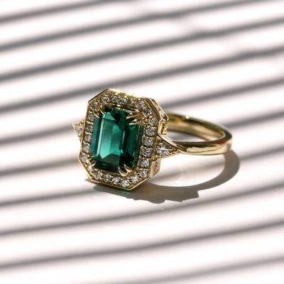 Katerina Ring With Chatham Emerald