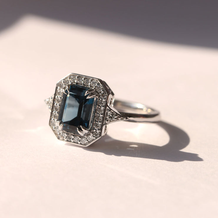 Katerina Ring With Blue Topaz