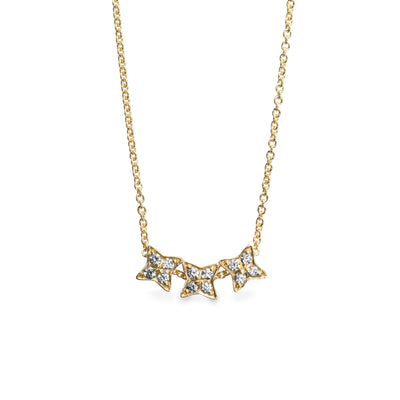 Jupiter necklace - 3 stars of diamonds