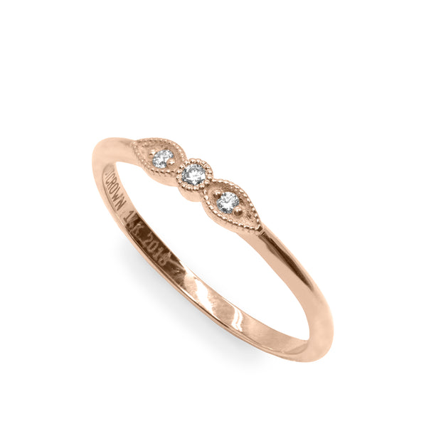 Mini Heleni gold ring white diamond