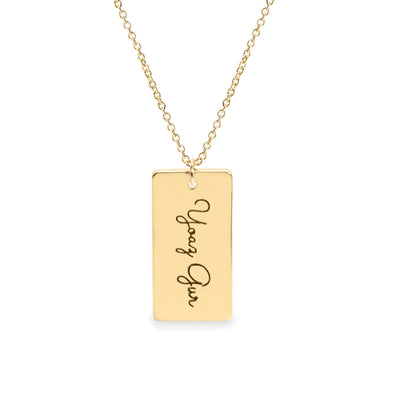 Rectangle Necklace With Engraving