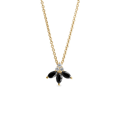 Jeanne Poisson Necklace- black diamonds