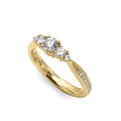 Mia Gold Ring White Diamonds