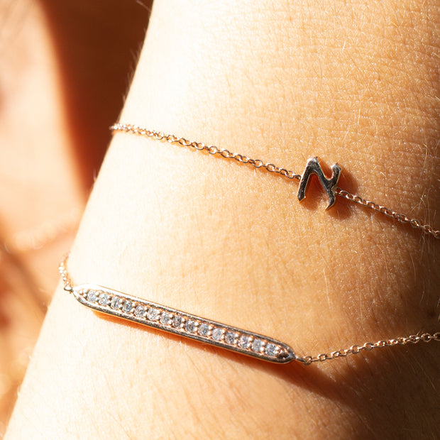 Gift idea for Mom - letter bracelet