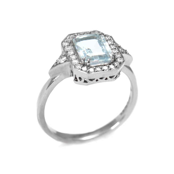 Katerina Rose Gold Ring With Aquamarine