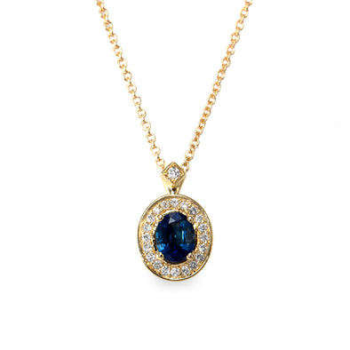 Leeonora Gold Necklace Sapphire
