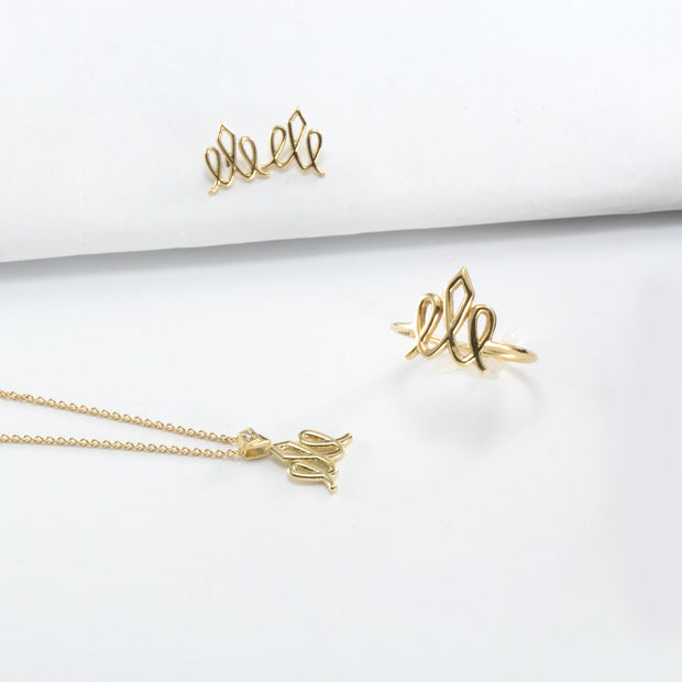 gold crown hotcrown logo necklace