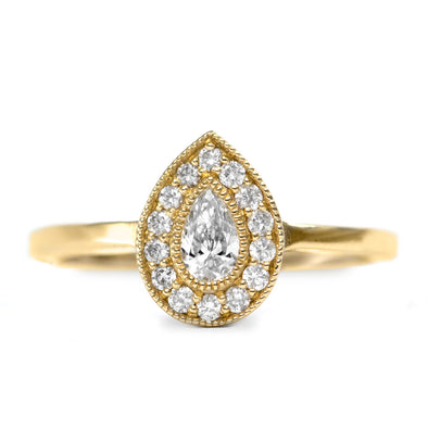 Luna Gold Ring White Diamond