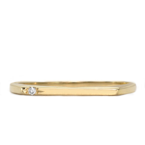 Miranda Gold Ring white Diamond
