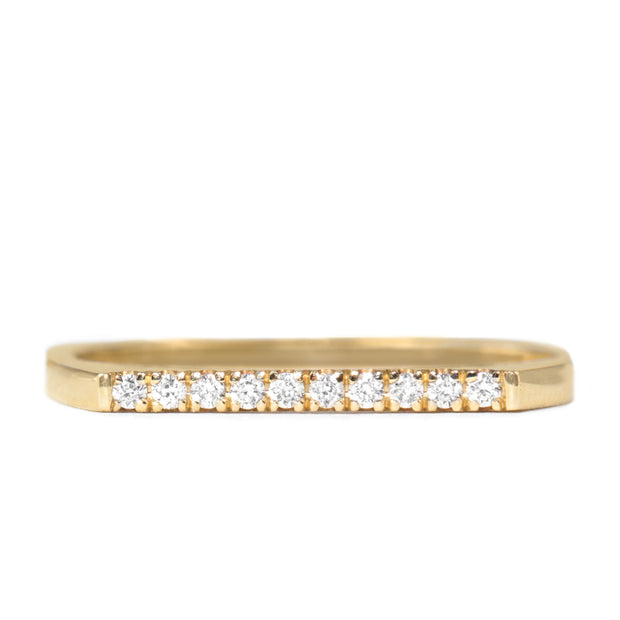 Miranda Encrusted Gold Ring White Diamonds